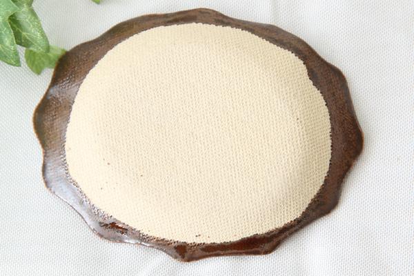 【益子焼】釉シリーズ。いっちんドット柄のアンティークオーバル小皿・豆皿【単品1個】