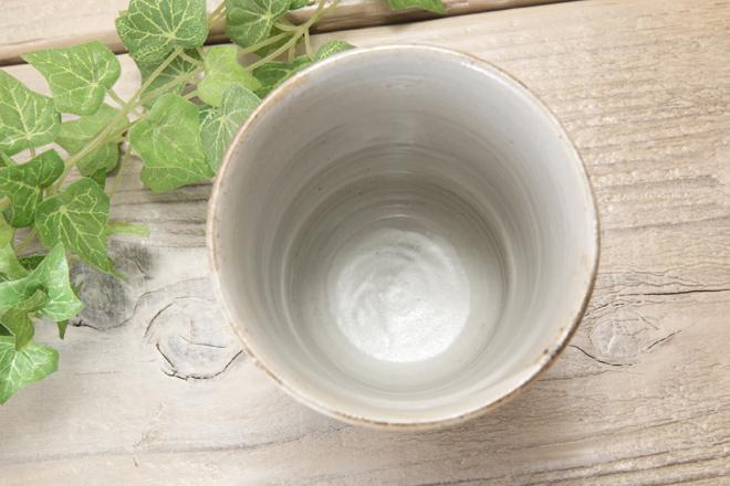 【益子焼】お花いっぱいのフリーカップ【白化粧炭化焼シリーズ】【単品1個】