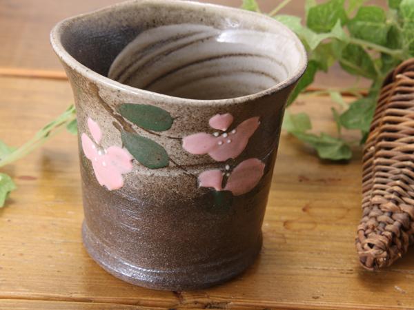 【益子焼】波線つき太めのロックカップ【単品1個】