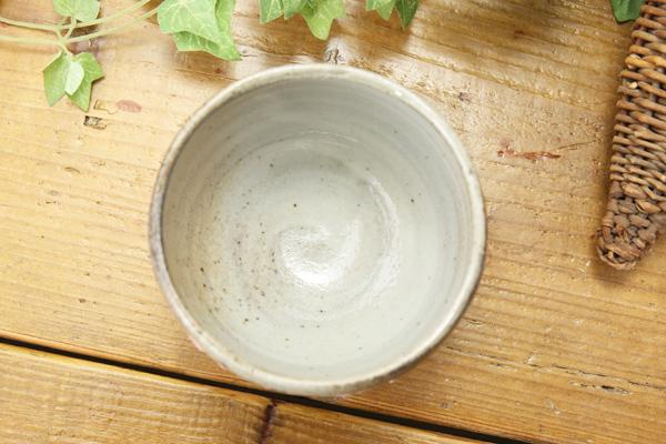 【益子焼】ミニサイズのカフェオレボウル【下に刷毛目ライン・さくら模様・単品1個】