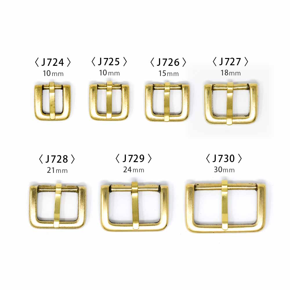 J724〜730 / No.101 帆型尾錠 10〜30mm / 真鍮無垢 〈2個〉