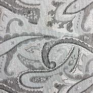 Z56 / 裏用生地 ジャガード織 ペイズリー柄 / ライトグレー(#2)[1〜9m]