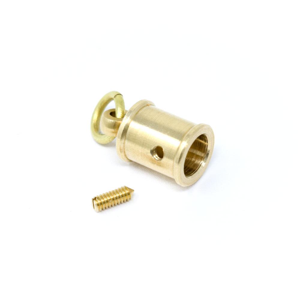 Y70 / AP-2477 革巻タッセル 小 / 真鍮無垢 〈1個〉