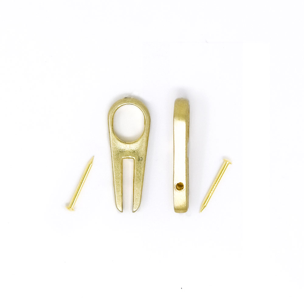Y121 / 巾着コキ 金属製 1本釘 / 真鍮色 〈小口・大口〉