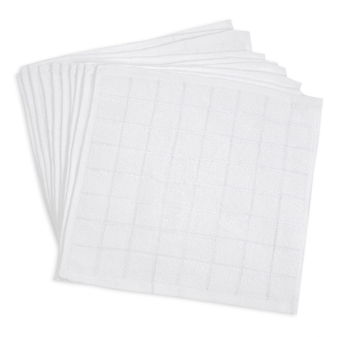 60匁 おしぼりタオル白 8×8格子