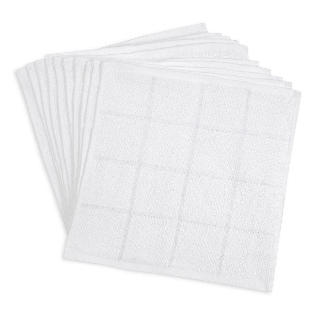 70匁 おしぼりタオル白 4×4格子