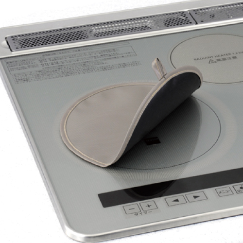 コンロカバーセット 排気口カバー&IHマット厚手 徳用2枚のセット
