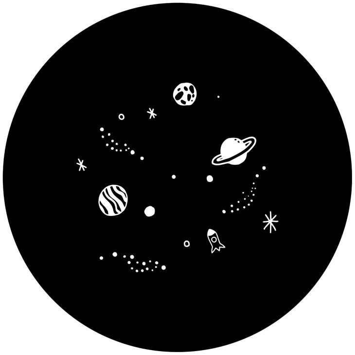 IHマットSOFT 宇宙・アルファベット ブラック2枚入