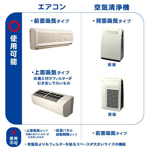ウイルス対策ホコリとりフィルター エアコン・空気清浄機用