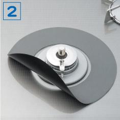 コンロカバーセット 排気口カバー&フラットコンロ用ガスマット1枚×2パックセット