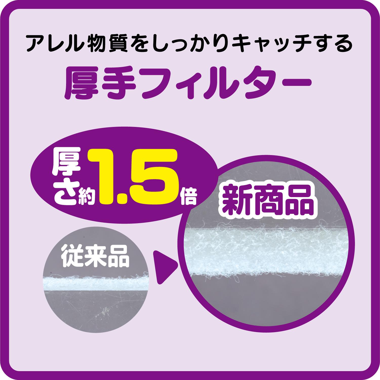 アレルブロック ホコリとりフィルター 通気口用 3枚 (100個セット)