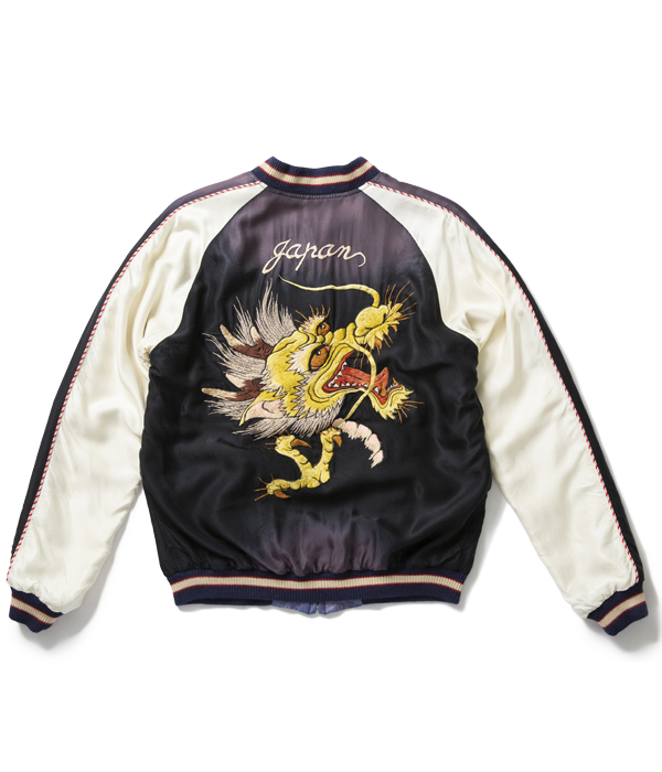 "Lot No. TT14572-119 / Early 1950s Style Acetate Souvenir Jacket ""DRAGON HEAD"" × ""EAGLE"" (AGING MODEL)"