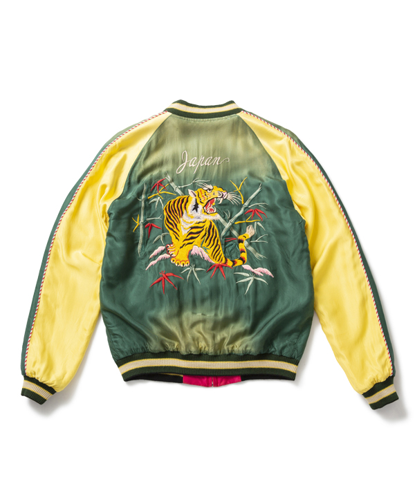 "Lot No. TT14572-145 / Mid 1950s Style Acetate Souvenir Jacket ""ROARING TIGER"" × ""EAGLE & DRAGON"" (AGING MODEL)"