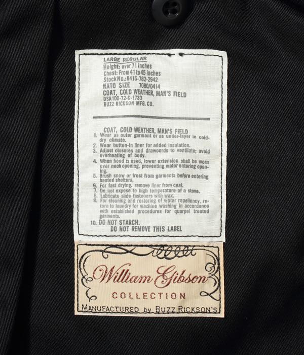 2021年10月13日入荷 / Lot No. BR14972 / WILLIAM GIBSON COLLECTION Type BLACK M-65 3rd MODEL