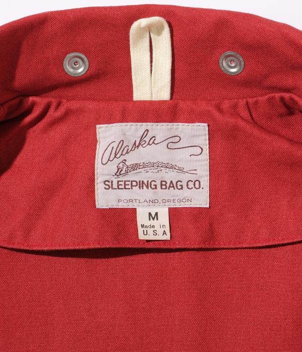 """2021年秋冬入荷予定 / Lot No. AS15006 / ALASKA SLEEPING BAG COTTON CANVAS, MADE IN USA """"VIKING"""" JACKET"""