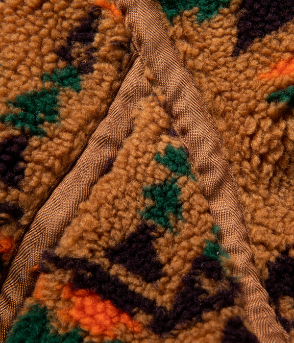 Lot No. SC14781 / NATIVE AMERICAN BOA FLEECE JACQUARD NO COLLAR JACKET