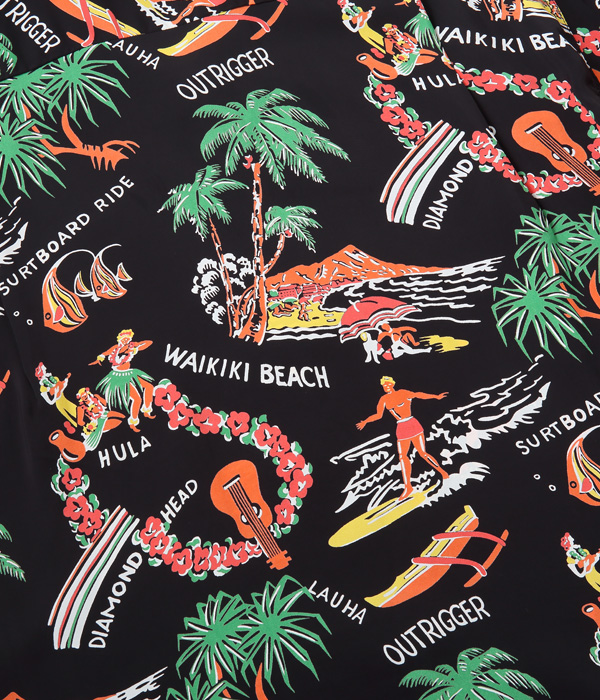 "2021年4月27日入荷 / Lot No. SS38578 / RAYON HAWAIIAN SHIRT ""SOUTHSEA TRIP"""