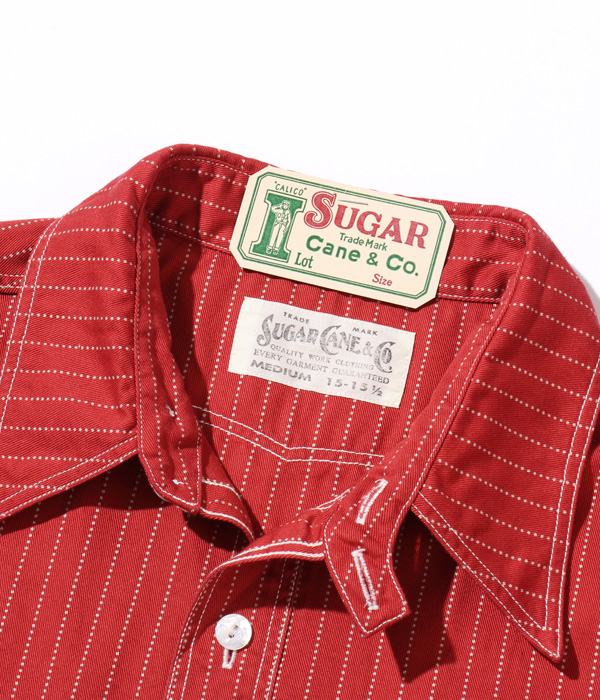 Lot No. SC38452 / FICTION ROMANCE 8.5oz. RED WABASH STRIPE WORK SHIRT