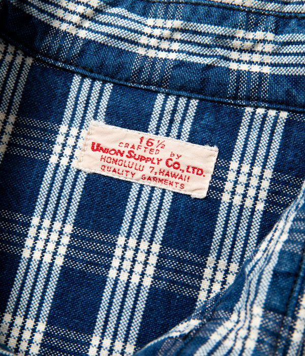 Lot No. US28520 / UNION SUPPLY 10oz. PALAKA CHECK WESTERN SHIRT with EMBROIDERED