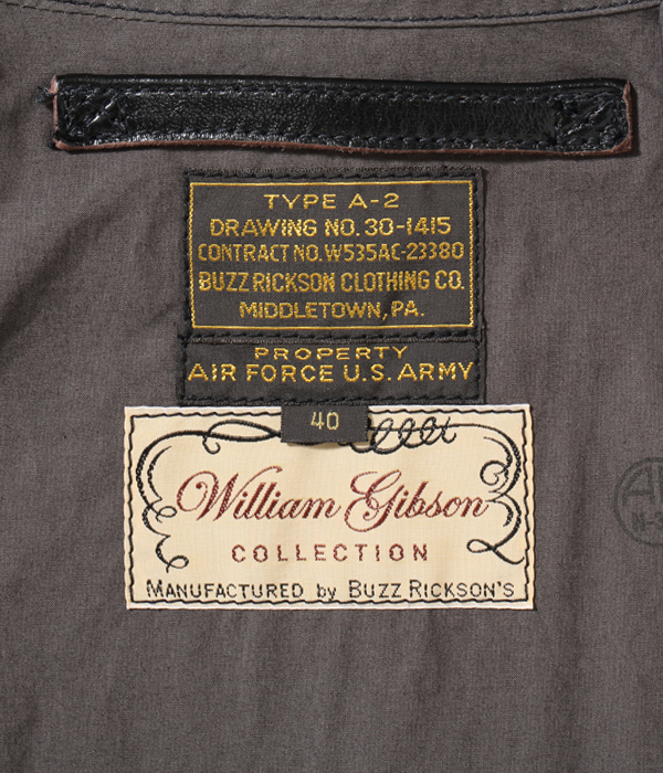 Lot No. BR80596 / WILLIAM GIBSON COLLECTION Type BLACK A-2