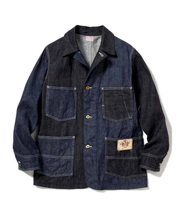 Lot No. FL14797 / FREE LAND 12oz. BLUE DENIM WORK COAT