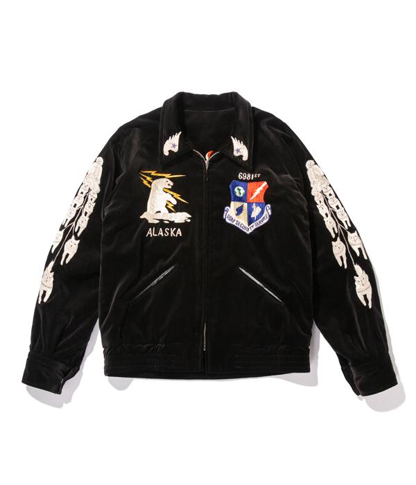 "Lot No. TT14653-119 / Mid 1950s Style Acetate Souvenir Jacket ""SKULL"" × ""DRAGON"" (AGING MODEL)"