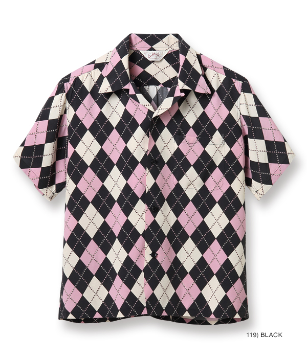 "2021年4月30日入荷 / Lot No. SH38628 / HIGH DENSITY RAYON OPEN SHIRT ""ARGYLE"""