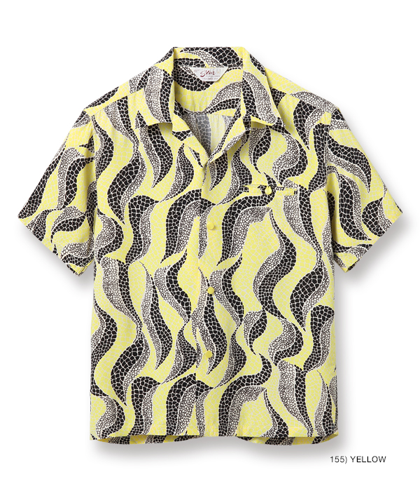 "2021年4月30日入荷 / Lot No. SH38632 / HIGH DENSITY RAYON OPEN SHIRT ""ABSTRACT"""