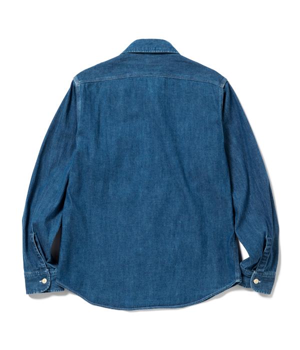 Lot No. SC27852H / BLUE DENIM WORK SHIRT AGED MODEL