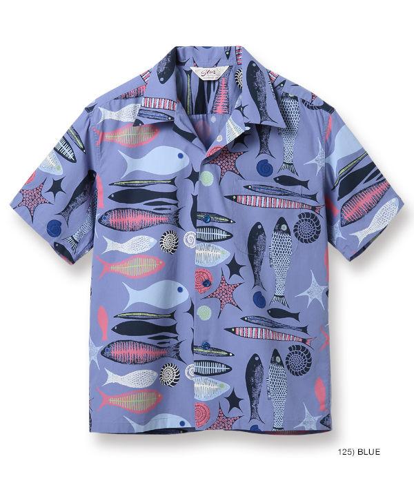 "2021年4月30日入荷 / Lot No. SH38635 / BROAD COTTON OPEN SHIRT ""FISH"""