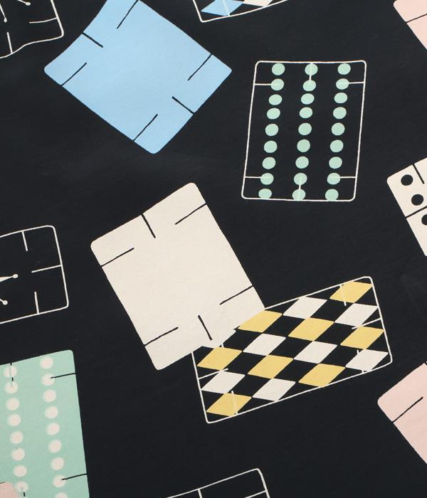 "Lot No. SH38638 / HIGH DENSITY RAYON OPEN SHIRT ""CARDS OF GAME"""