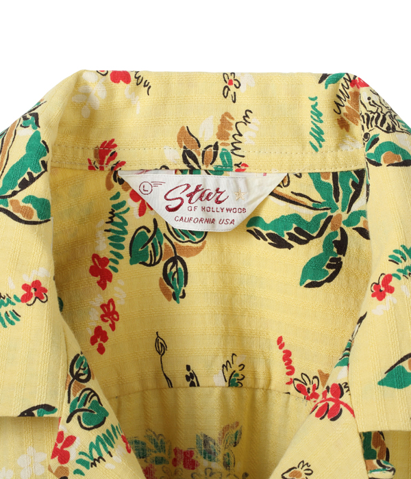 "Lot No. SH38387 / DOBBY COTTON OPEN SHIRT ""AFRICAN ANIMALS"""