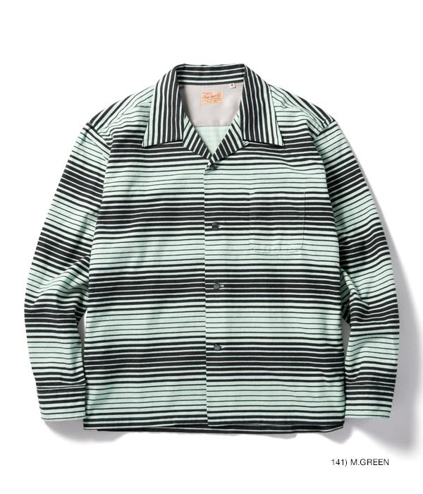 "Lot No. SE28537 / Mid 1950s Style Flannel Sports Shirt ""GRADATION STRIPES"""