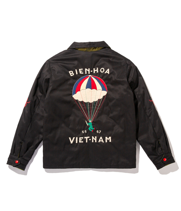 "Lot No. TT14656-119 / Mid 1960s Style Reversible Vietnam Jacket ""PARACHUTE"" × ""VIETNAM MAP"" (BLACK)"