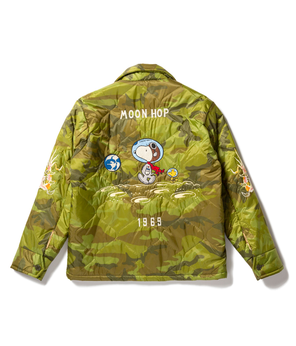 """Lot No. TT14470-198 / TAILOR TOYO × PEANUTS (SNOOPY) Late 1960s Style Vietnam Liner Jacket """"MOON HOP"""" (CAMOUFLAGE)"""