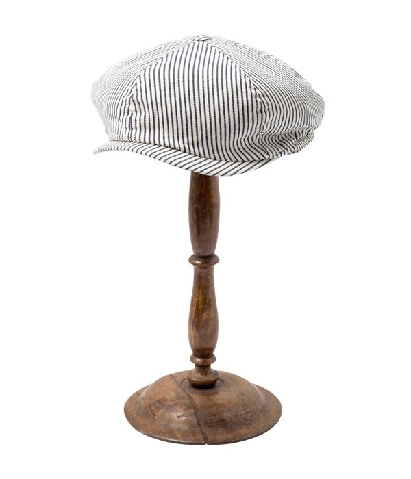 Lot No. SC02626-105 / HICKORY STRIPE APPLEJACK CAP (OFF WHITE)