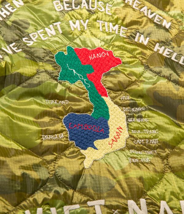 "Lot No. TT14655-198 / Mid 1960s Style Vietnam Liner Jacket ""VIETNAM MAP"" (CAMOUFLAGE)"