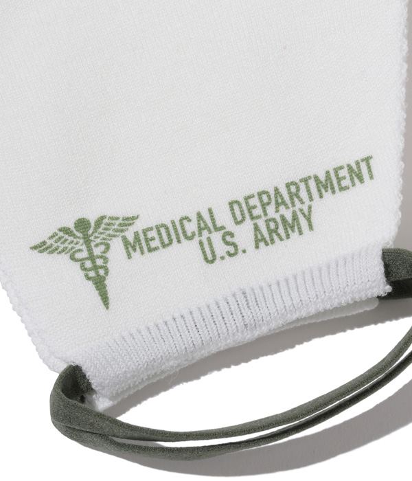 """Lot No. BR02692-101 / FACE MASK """"MEDICAL DEPARTMENT U.S.ARMY"""" (WHITE)"""