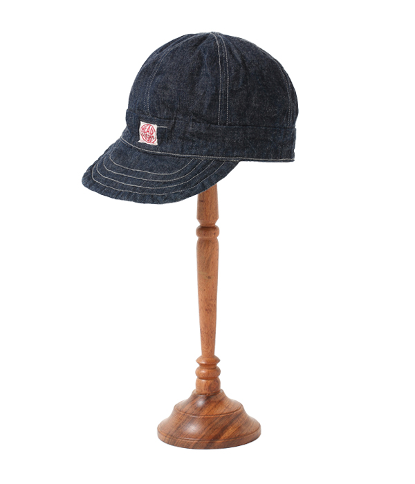 Lot No. HD02693 / HEAD LIGHT 9.5oz. SPECIAL WEAVE DENIM 6-PANELS WORK CAP