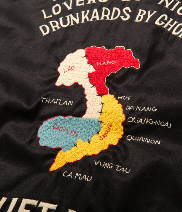 "Lot No. TT14654-119 / Late 1960s Style Cotton Vietnam Jacket ""VIETNAM MAP"" (BLACK)"