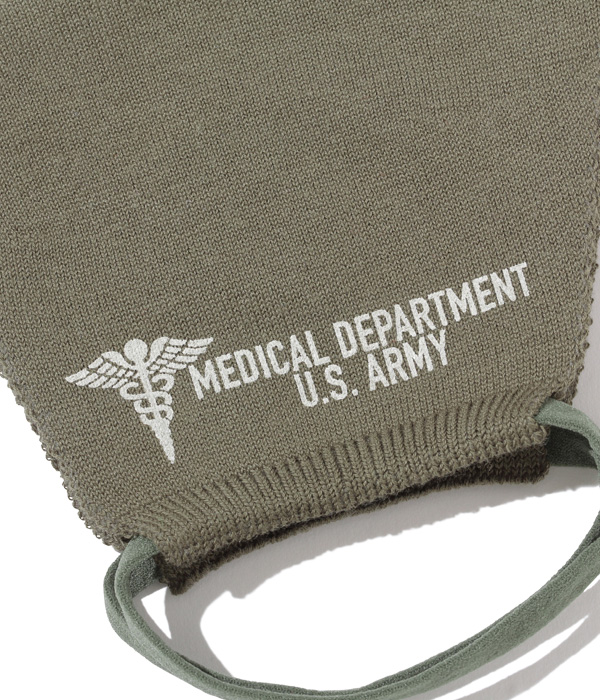 """Lot No. BR02692-149 / FACE MASK """"MEDICAL DEPARTMENT U.S.ARMY"""" (OLIVE)"""