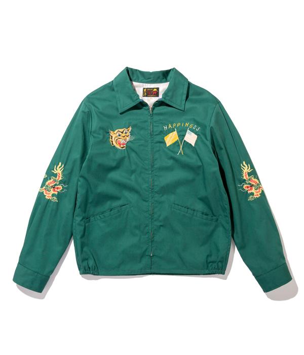 "Lot No. TT14654-145 / Late 1960s Style Cotton Vietnam Jacket ""VIETNAM MAP"" (GREEN)"