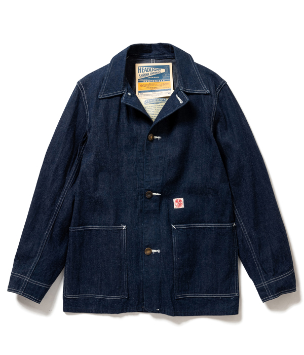 Lot No. HD14553 / HEADLIGHT 9.5oz. BLUE DENIM WWII WORK COAT