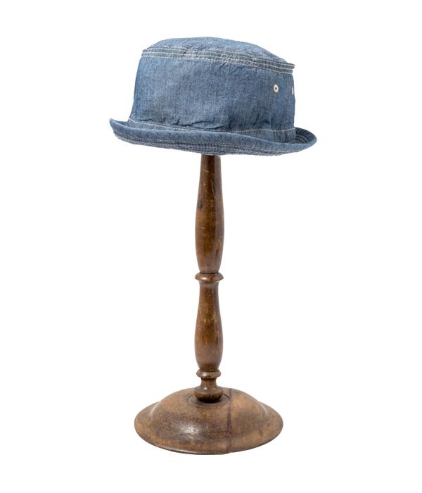 Lot No. SC02628 / BLUE CHAMBRAY PORKPIE HAT