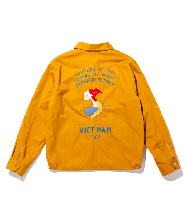 "Lot No. TT14654-157 / Late 1960s Style Cotton Vietnam Jacket ""VIETNAM MAP"" (MUSTARD)"