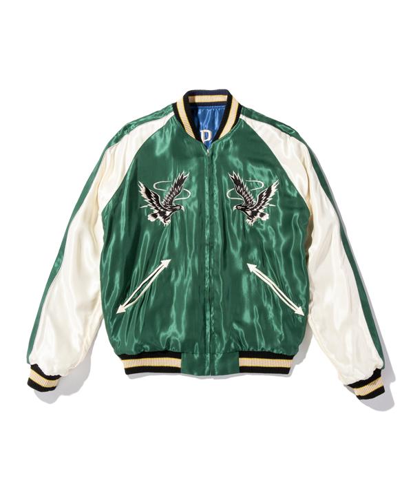 "Lot No. TT14813-125 / Mid 1950s Style Acetate Souvenir Jacket ""DRAGON"" × ""BLACK EAGLE"""