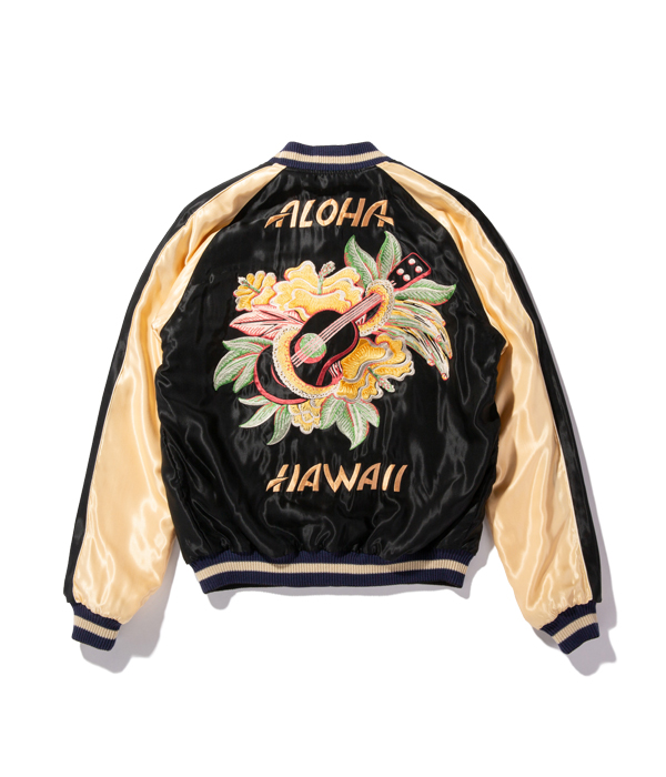 "Lot No. TT14813-128 / Mid 1950s Style Acetate Souvenir Jacket ""KING KAMEHAMEHA"" × ""UKULELE"""