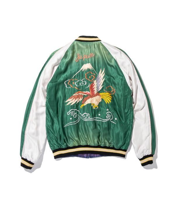 "Lot No. TT14653-145 / Early 1950s Style Acetate Souvenir Jacket ""EAGLE"" × ""TIGER"" (AGING MODEL)"