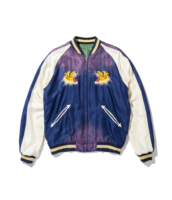 "Lot No. TT14653-145 / Early 1950s Style Acetate Souvenir Jacket ""EAGLE"" × ""TIGER"" (AGING MODEL)"