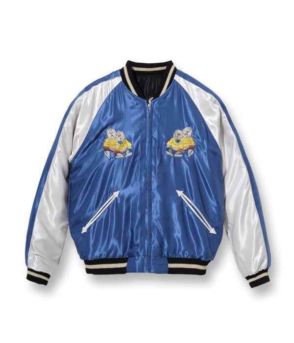 "Lot No. TT14892-119 / Late 1950s Style Acetate Souvenir Jacket ""ALASKAN EAGLE"" × ""MOOSE"""